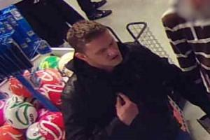 Shoppers wanted after security guard punched in the face
