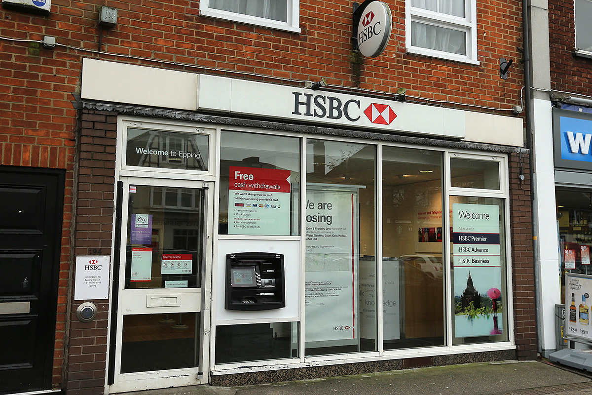 The HSBC in Epping High Street will close in February next year
