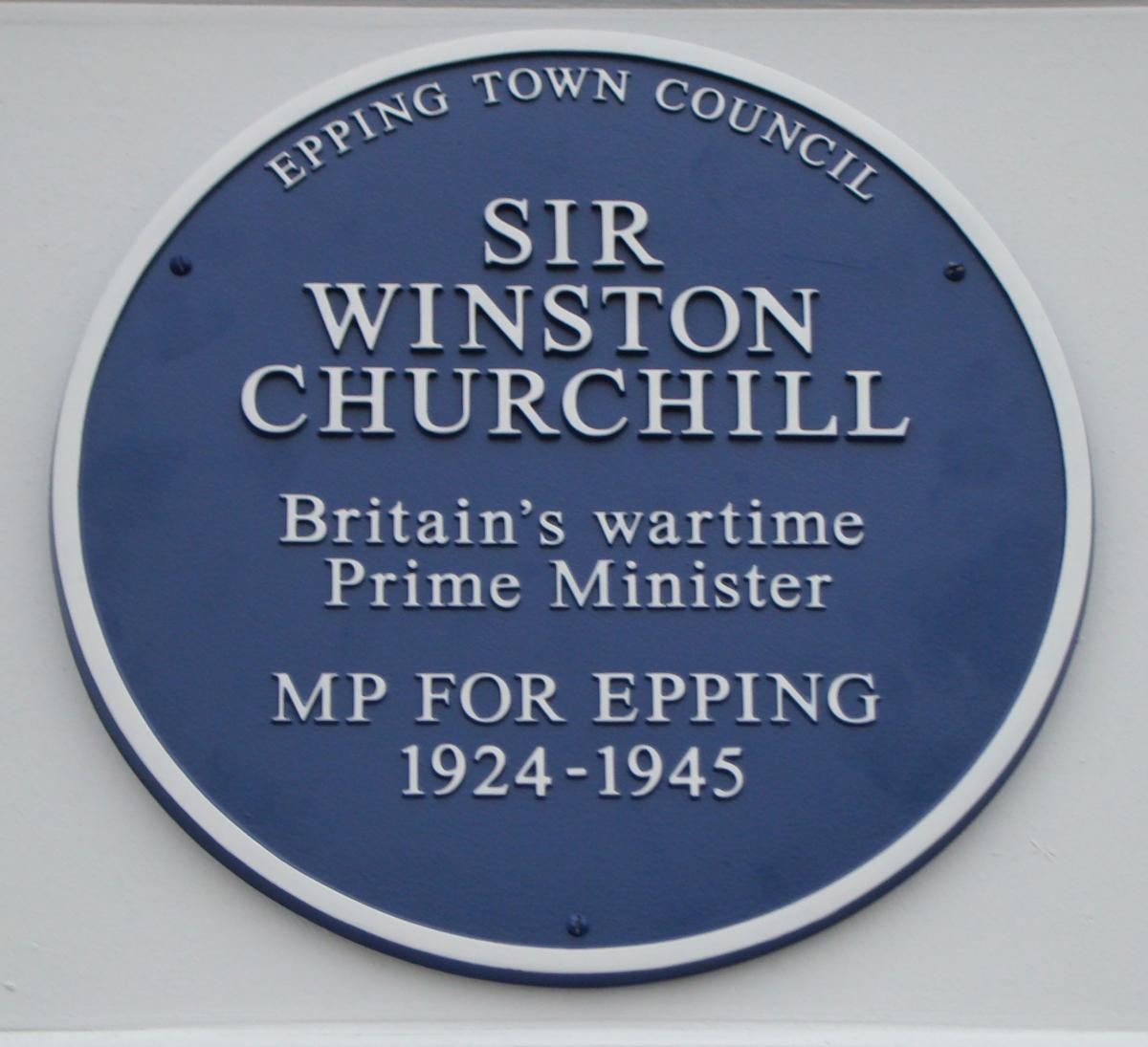 Image result for blue plaque churchill