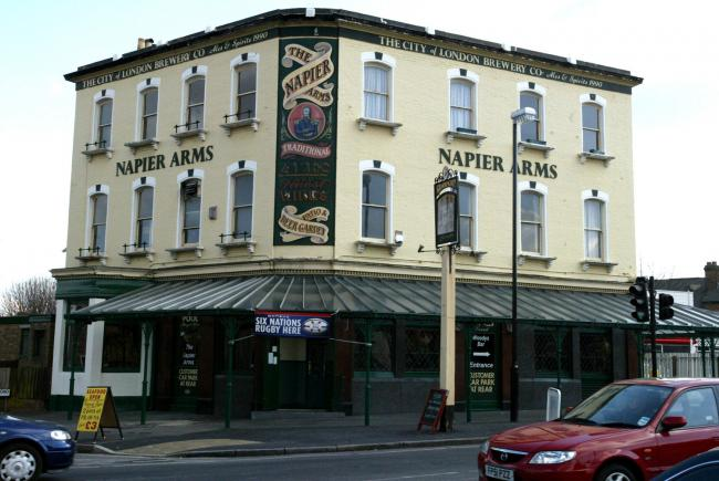 A planning application has been submitted to turn the Napier Arms into a restaurant with outdoor seating.