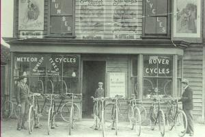 The Cottis Cycle Shop in Theydon Bois (Photo courtesy of Epping Forest District Museum)
