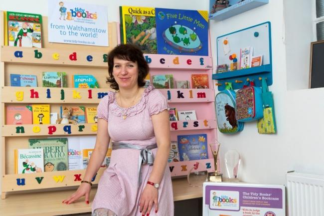 Tidy Books chief executive Geraldine Grandidier is collecting used books to donate to children's book clubs
