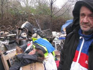 "East London and West Essex Guardian Series: A homeless man's makeshift camp was burnt to the ground in a ""sickening"" attack."