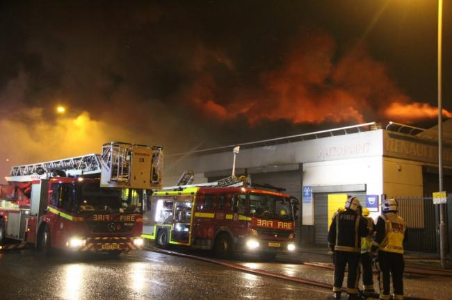 The fire took more than three hours to bring under control (pic: LFB/Paul Wood)