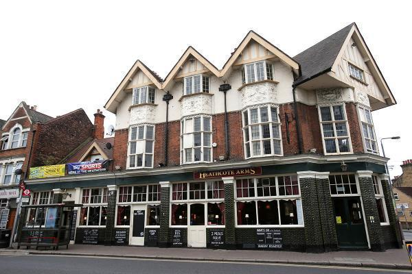 Heathcote Arms pub in Grove Green Road, Leytonstone.