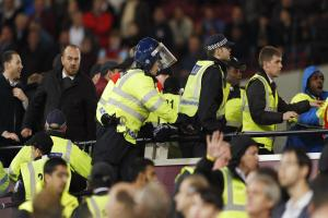 The October EFL Cup game was marred by crowd trouble. Picture: Action Images