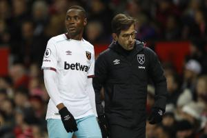 Diafra Sakho sustained his back injury at Manchester United in November. Picture: Action Images