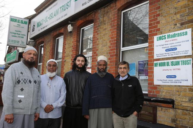 Chairman of Waltham Forest Council of Mosques Yusuf Hansa, far left, with members of the council.