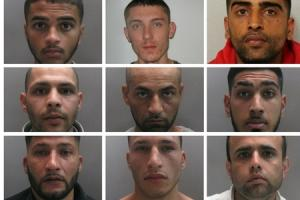 A gang of 11 drug dealers have been jailed for using Ilford Station to hand out heroin, cocaine, and cannabis