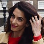 East London and West Essex Guardian Series: Amal Clooney stunned in a gorgeous red dress as she gave a speech in London