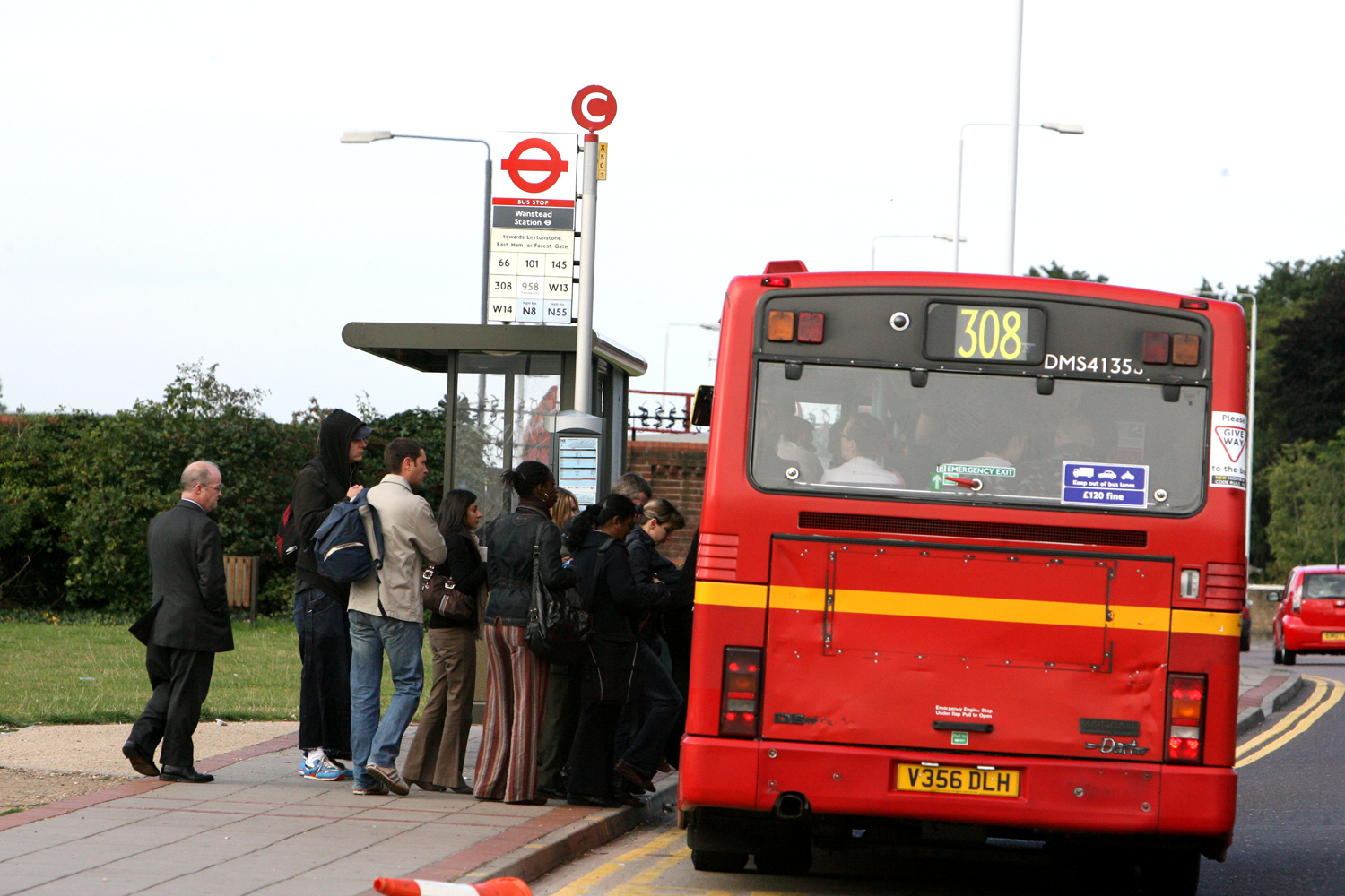 The wait at bus stops across Waltham Forest and Redbridge will be longer than usual today