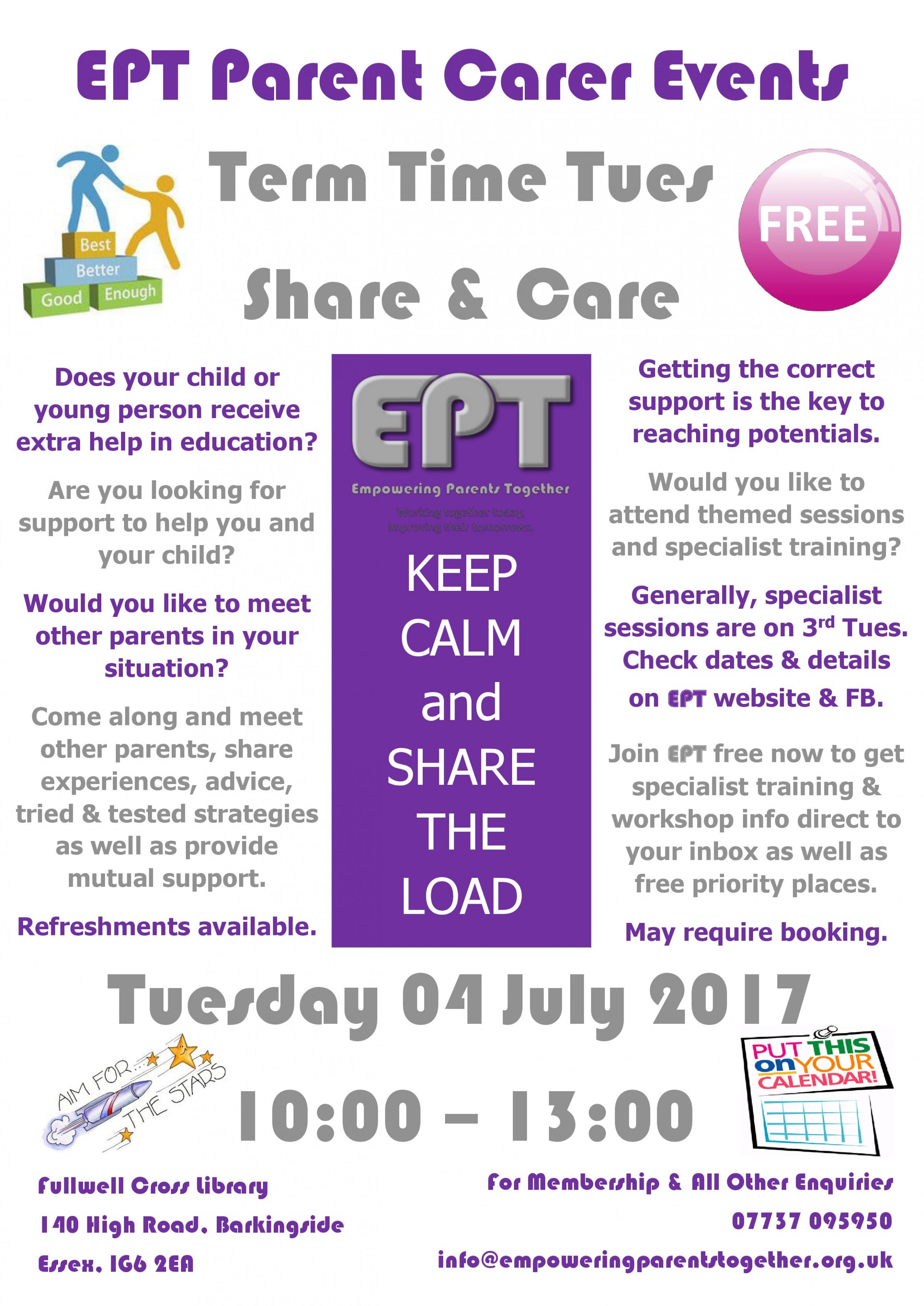 Term Time Tues - Share & Care