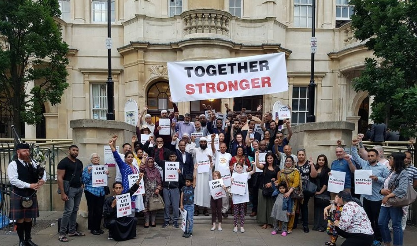 People of all and no faiths gathered outside Redbridge Town Hall last night (June 23) in a display of solidarity and condemnation of London's recent terror attacks