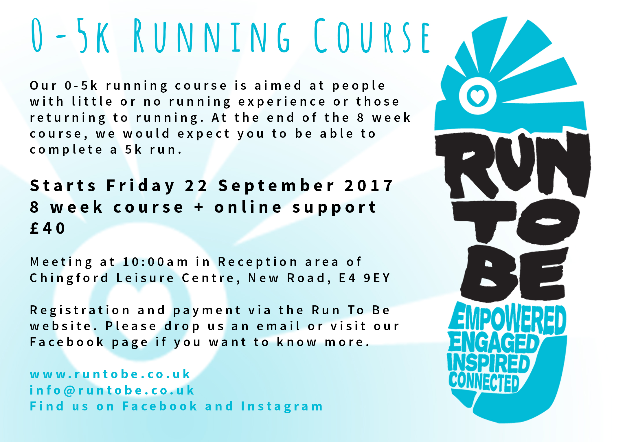 0-5K Running Course, Chingford, Friday Mornings