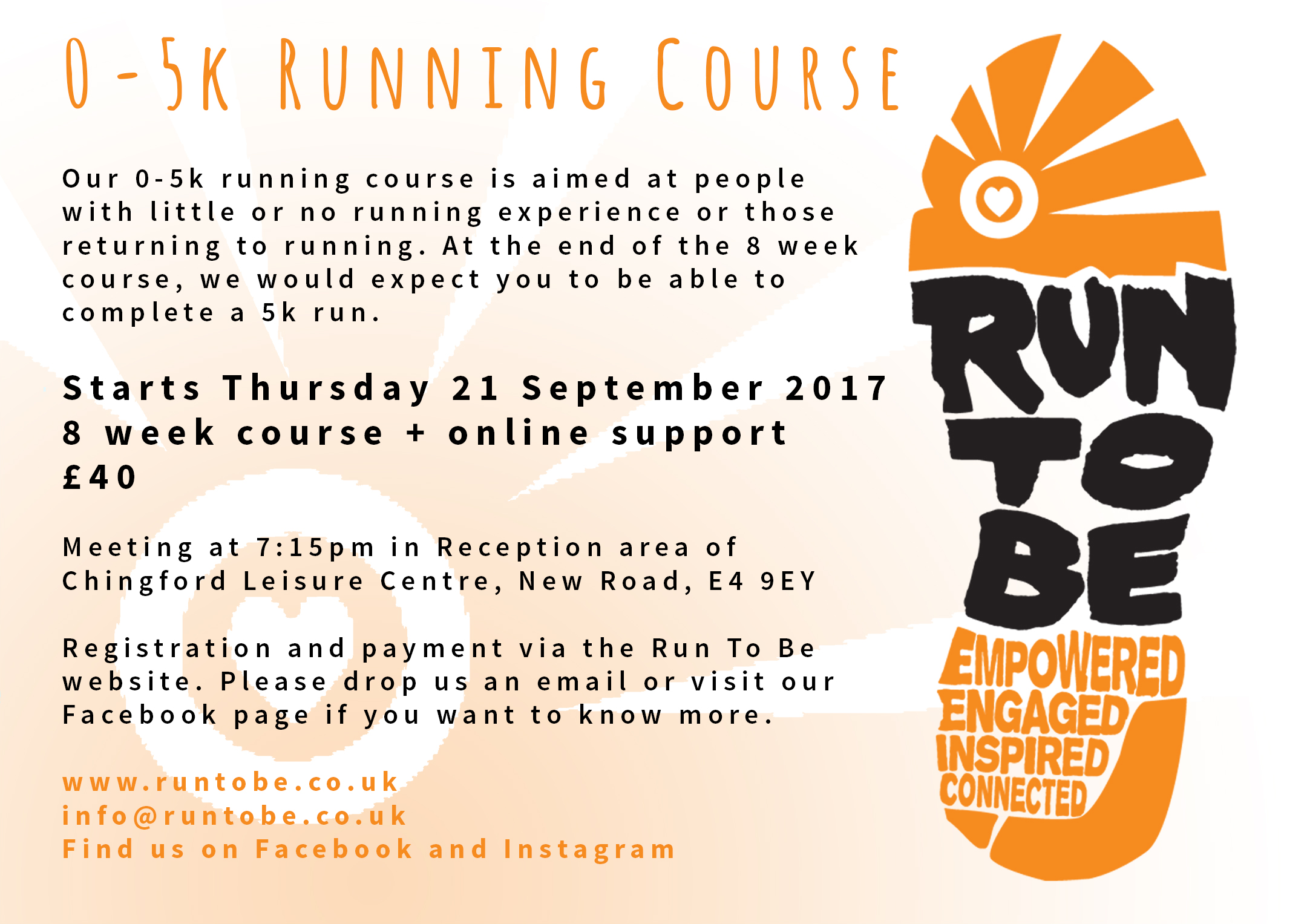0-5K Running Course Chingford, Thursday Evenings