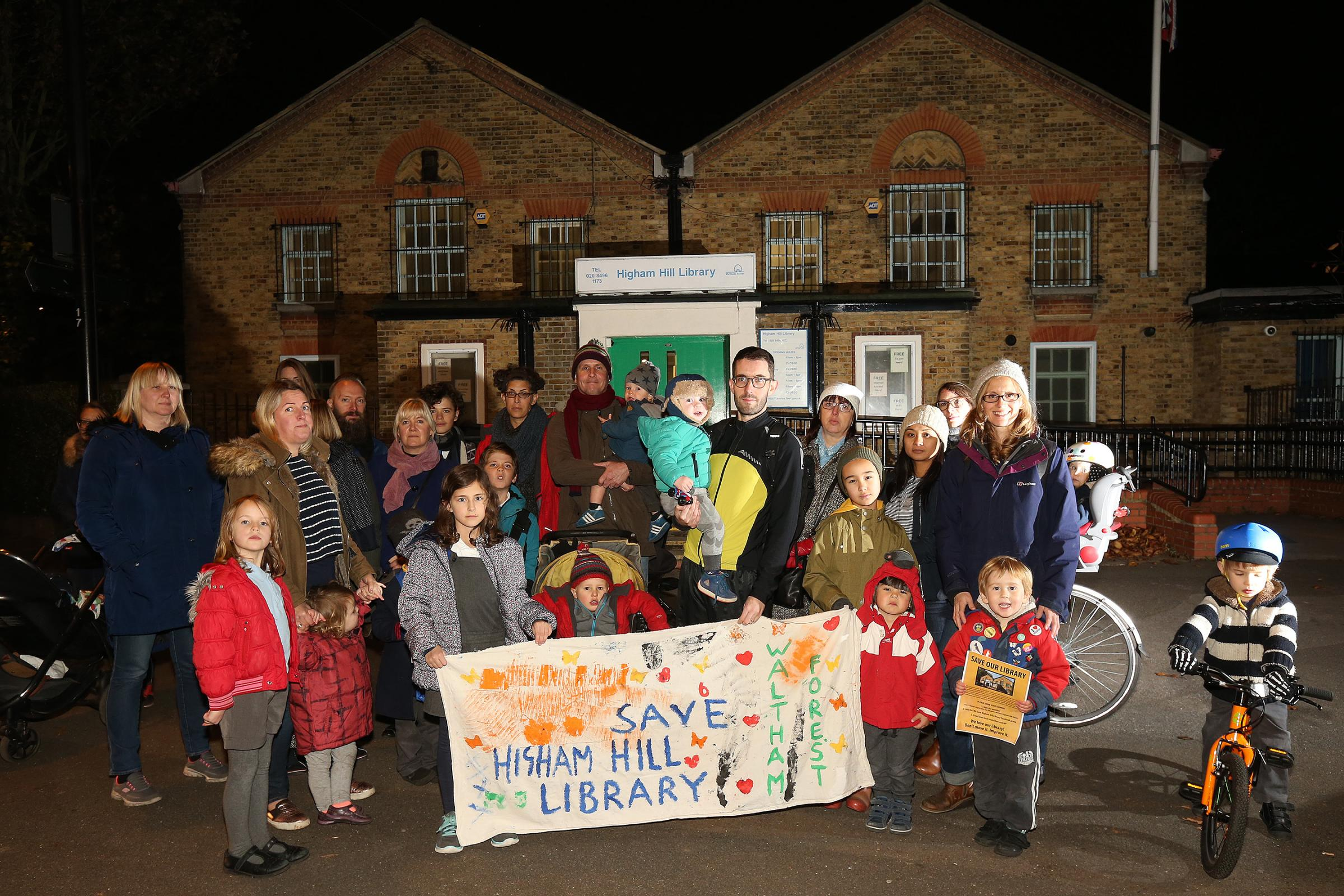 Higham Hill residents had been campaigning to keep their library open