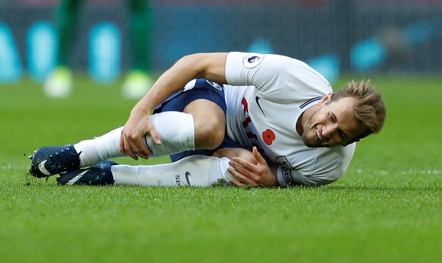 Harry Kane sustained a knock in yesterday's win over Crystal Palace. Picture: Action Images
