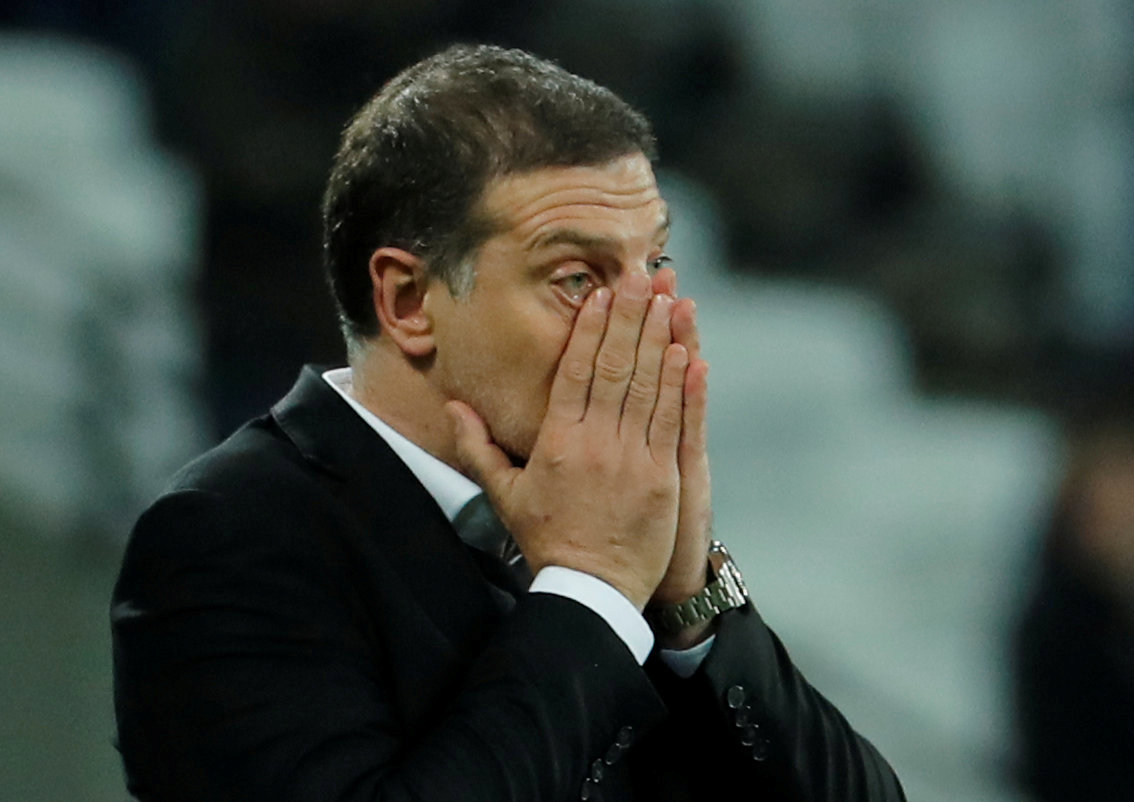 The now former West Ham boss admitted he feared the worst. Picture: Action Images