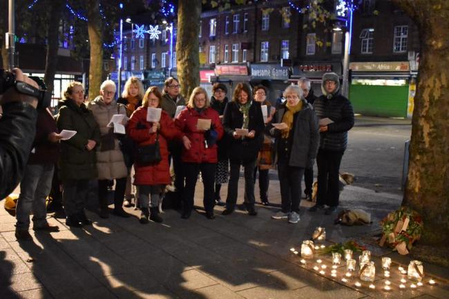 Vigil held in town square to remember homeless men and women who died on streets