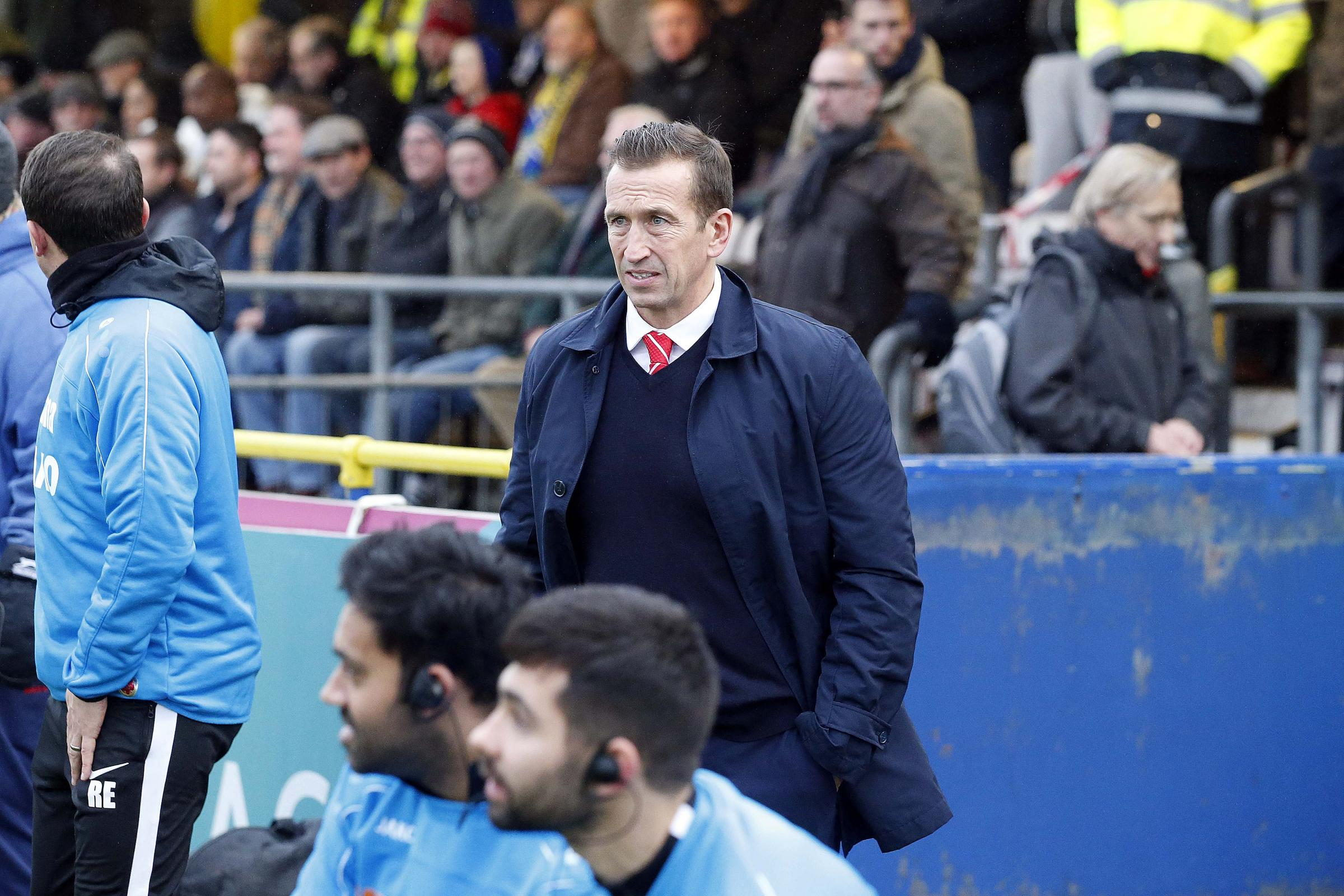 Justin Edinburgh wants his players to show greater commitment in their bid to avoid the drop. Picture: Simon O'Connor