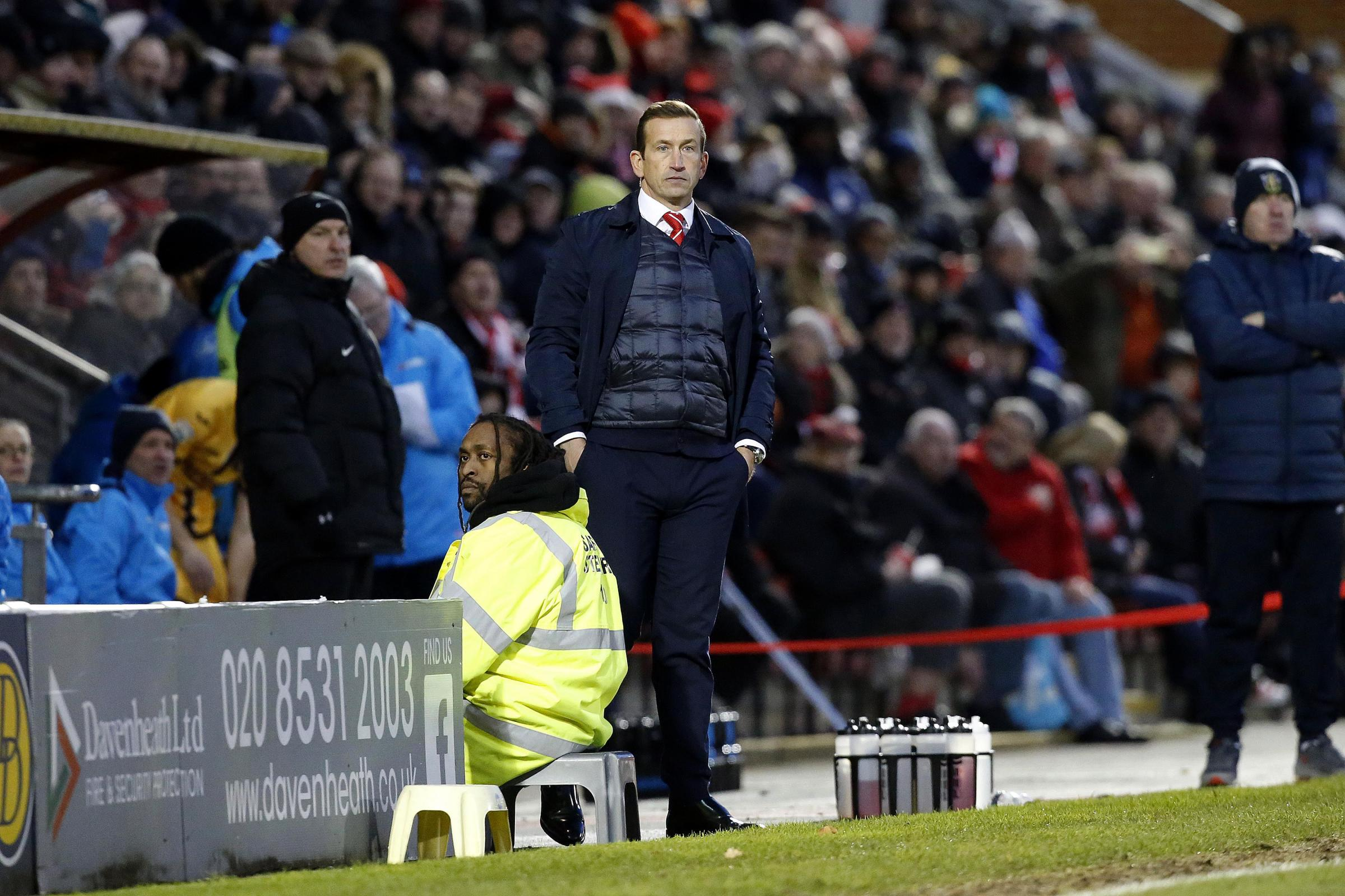 Justin Edinburgh expects his side to cope with the pressure of a trip to Wrexham. Picture: Simon O'Connor