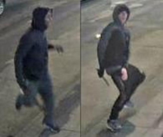 Police want to indentify the two suspects after a man was left with serious eye injuries