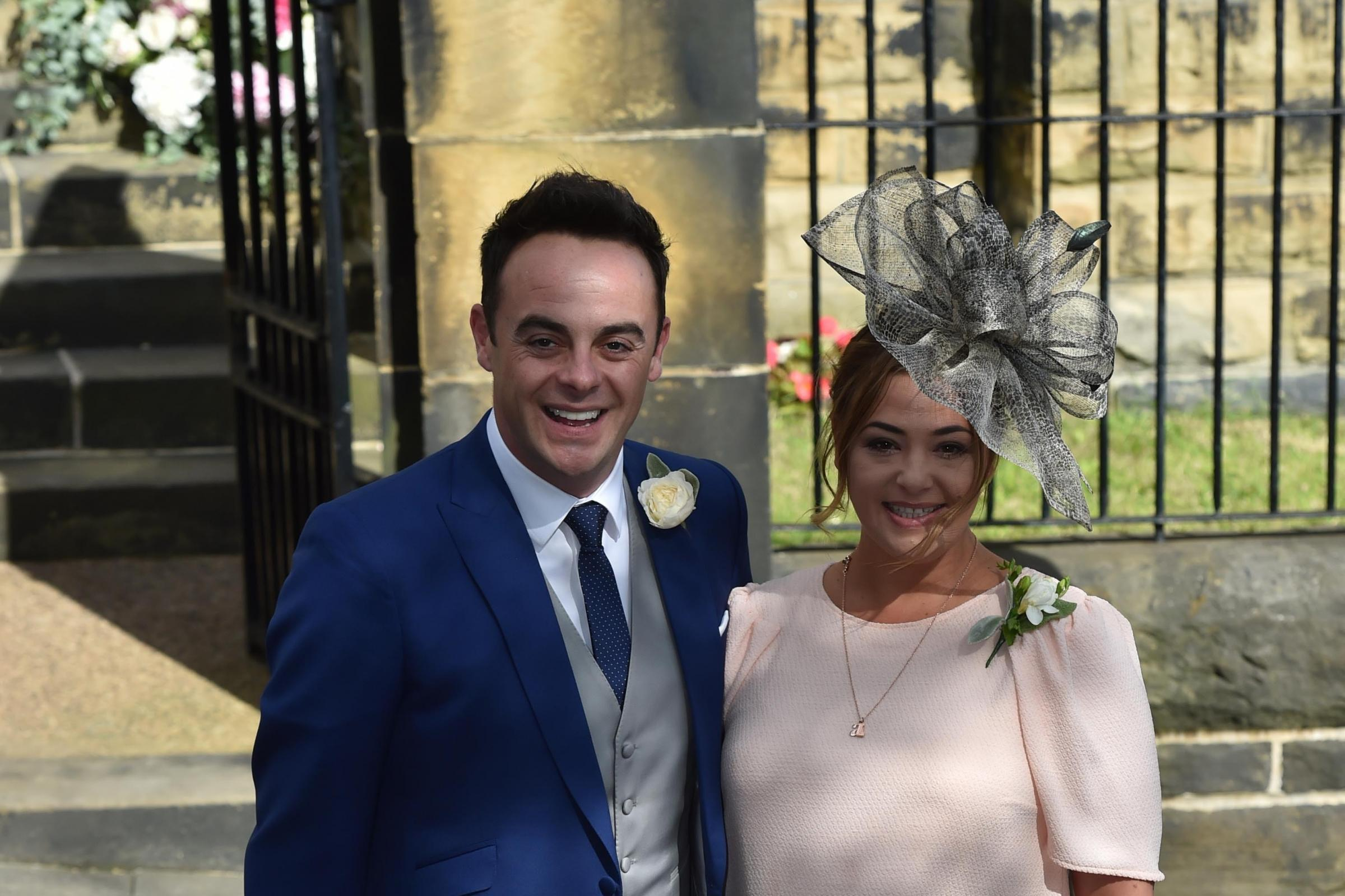 Ant McPartlin and wife Lisa Armstrong (Owen Humphreys/PA)