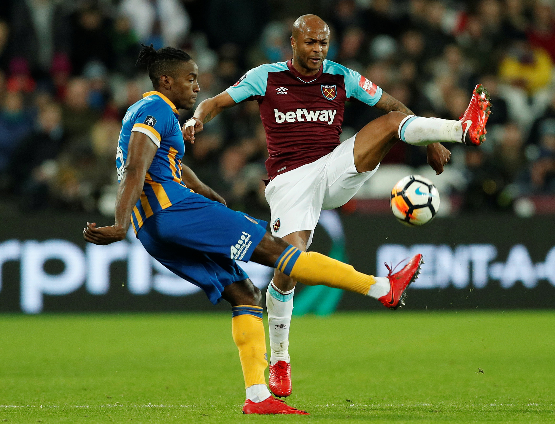 Andre Ayew left West Ham on deadline day to return to Swansea. Picture: Action Images