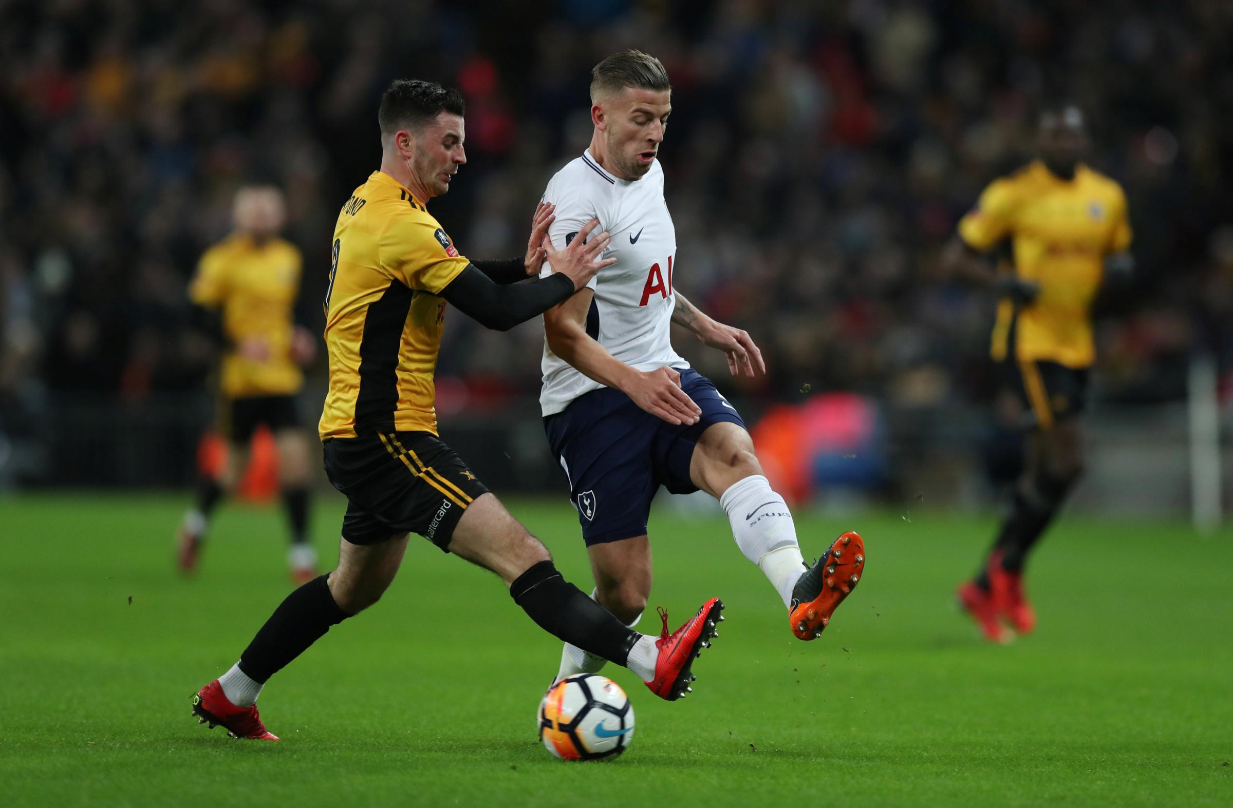 Back in action: Toby Alderweireld returned against Newport County on Wednesday. Picture: Action Images