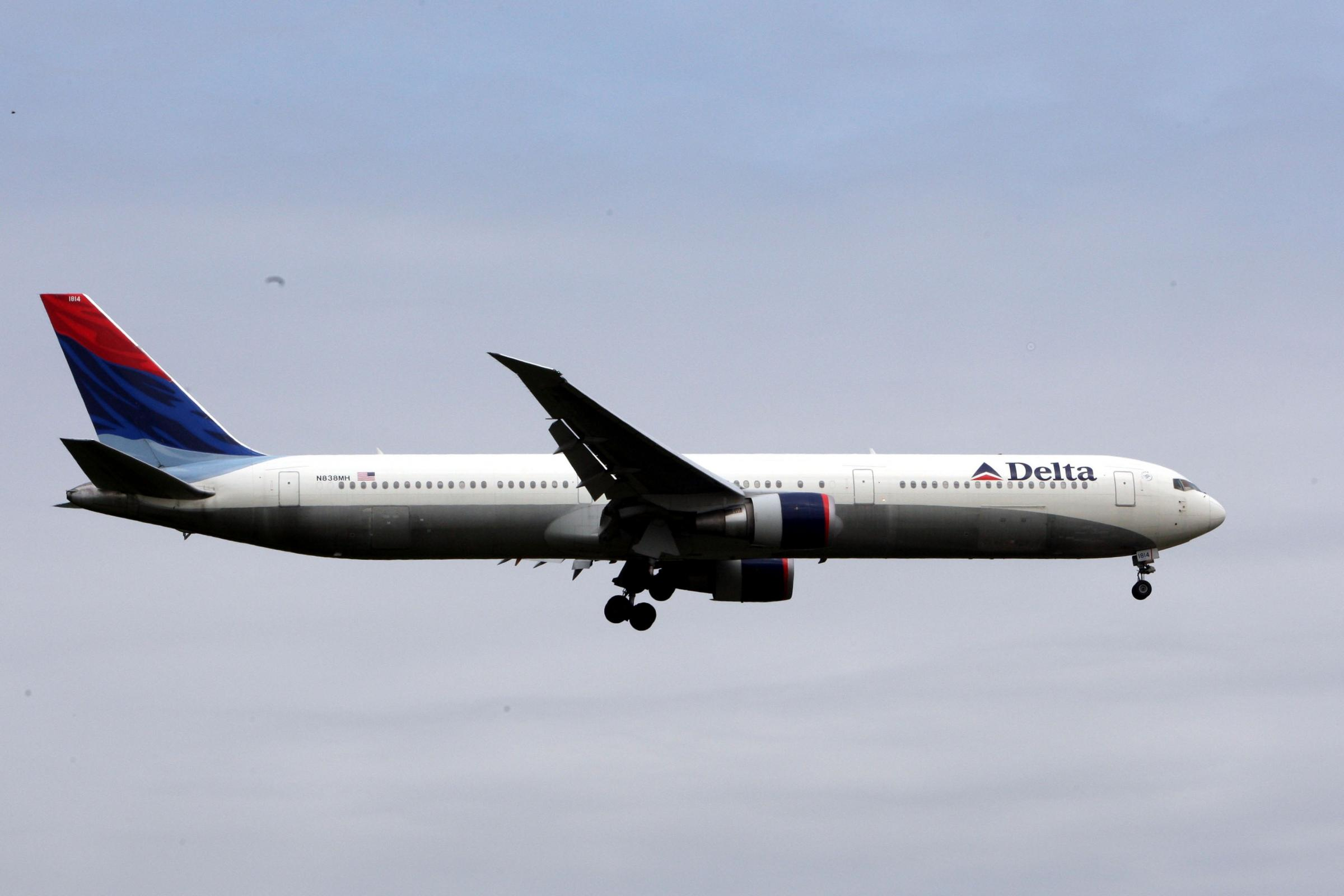 The woman was on a Delta Airlines flight (Steve Parsons/PA)