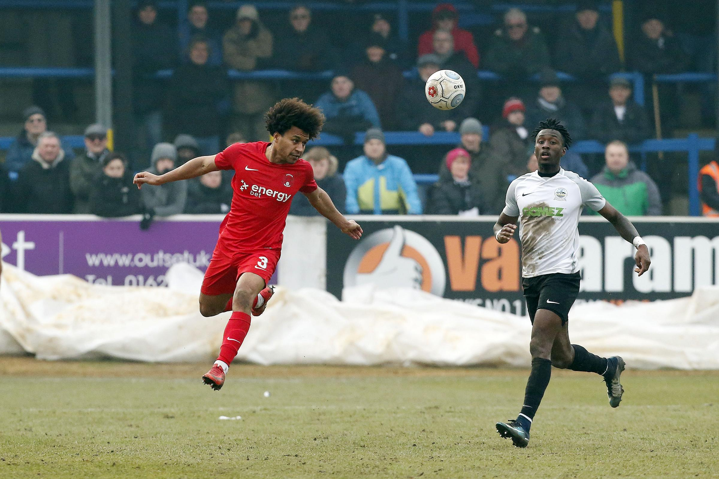 Joe Widdowson says he enjoyed playing at centre-back against Dover Athletic. Picture: Simon O'Connor