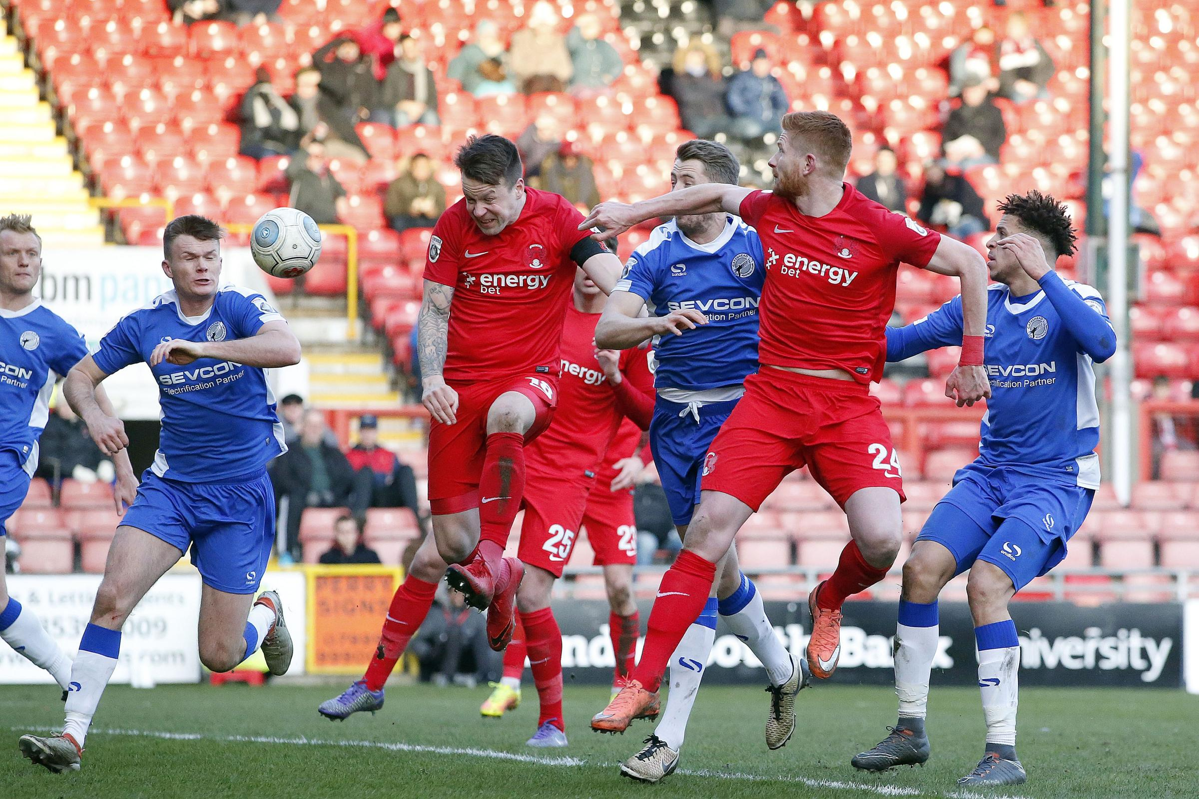 Josh Coulson put the O's 3-0 up at Brisbane Road just over a week ago, but Orient will take on Gateshead in a replay tonight. Picture: Simon O'Connor.
