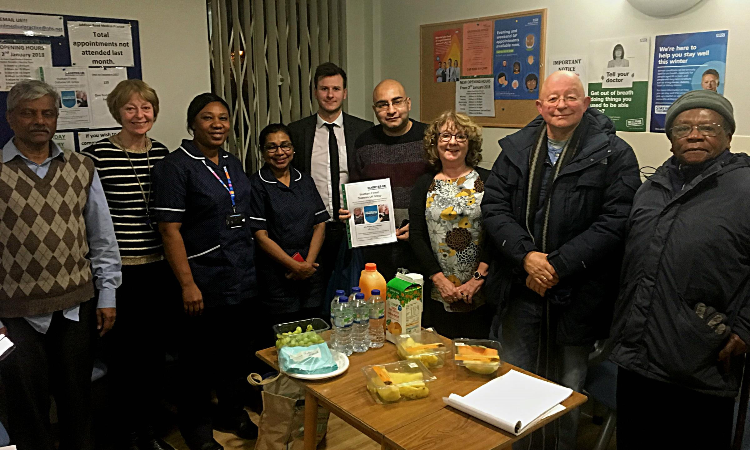 The new Diabetes UK Waltham Forest group held its first meeting last week