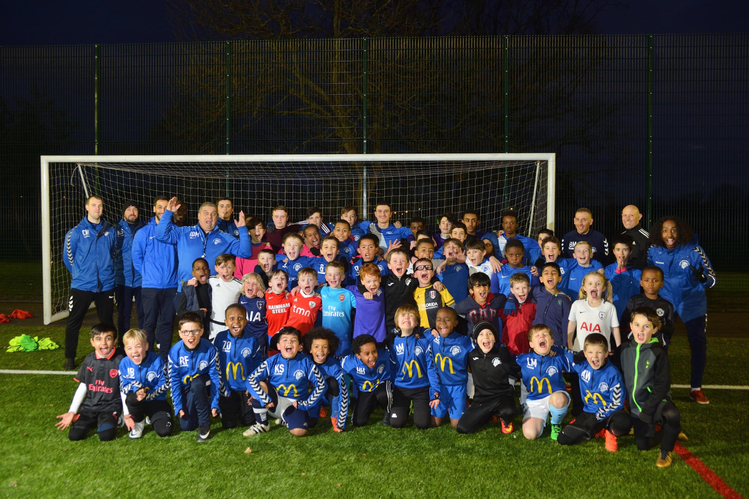 Ridgeway Rovers players and coaches at Peter May Sports Center, Walthamstow. (6/3/2018) EL91905_02