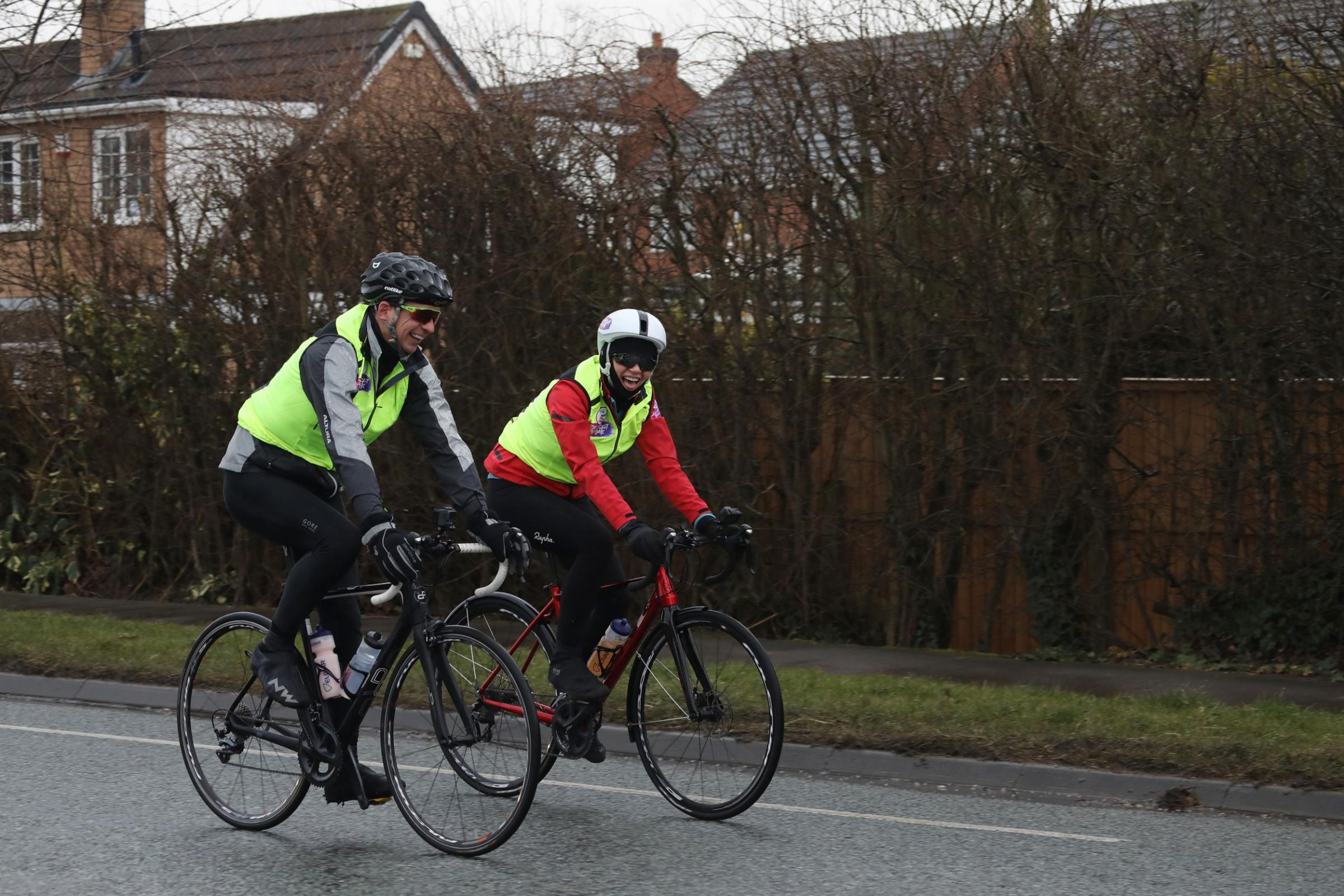 Zoe Ball is attempting to cycle just over 300 miles from her birthplace of Blackpool to her hometown of Brighton (Victoria Dawe/Sport Relief/PA)