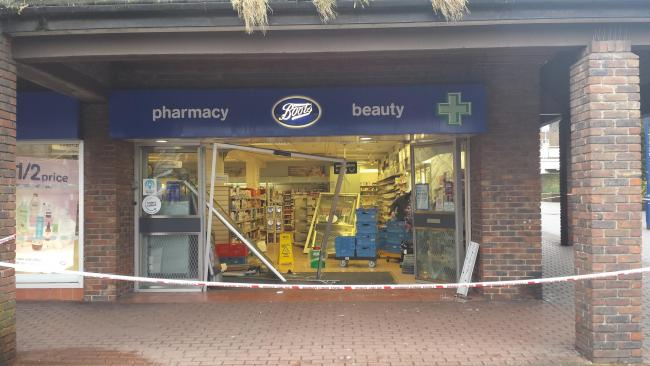 huge selection of 0a20f f82f2 Thieves destroy South Woodford Boots shop doors | East ...