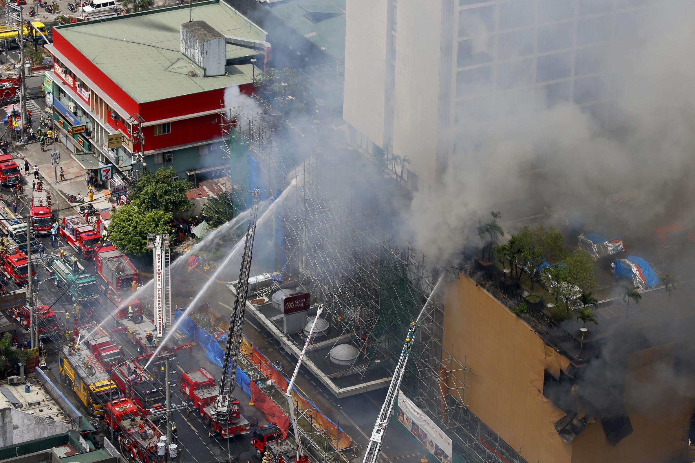 Image result for Dozens of Firemen Battle London Hotel Fire