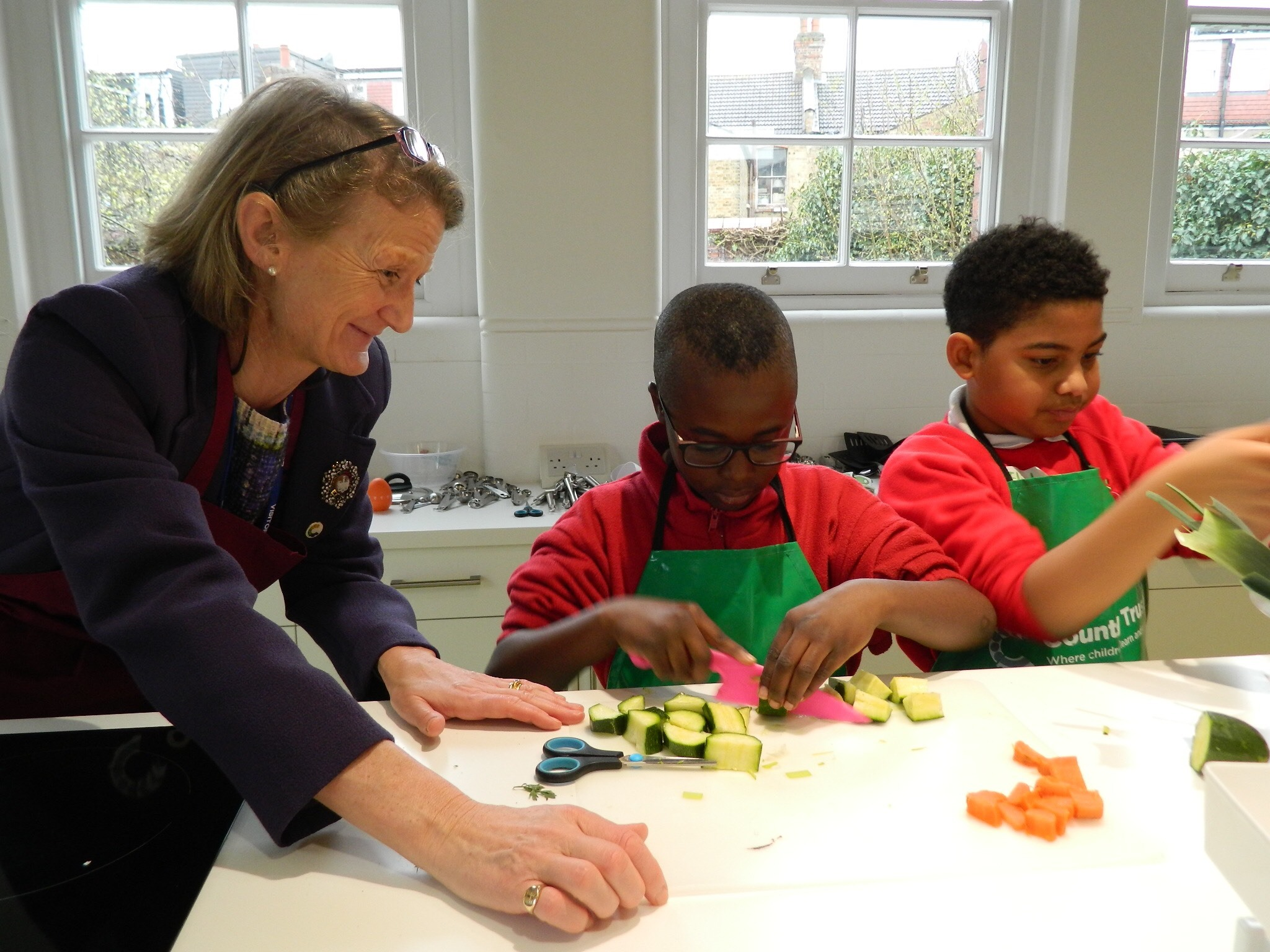 The Lady Mayoress of the City of London visited Woodside Primary Academy in Walthamstow