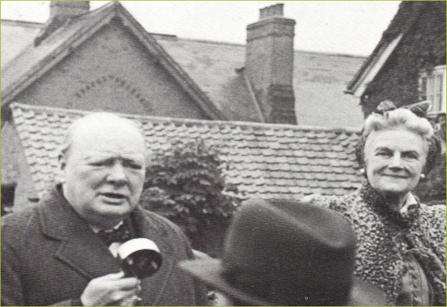 Churchill during his visit to Loughton in 1945
