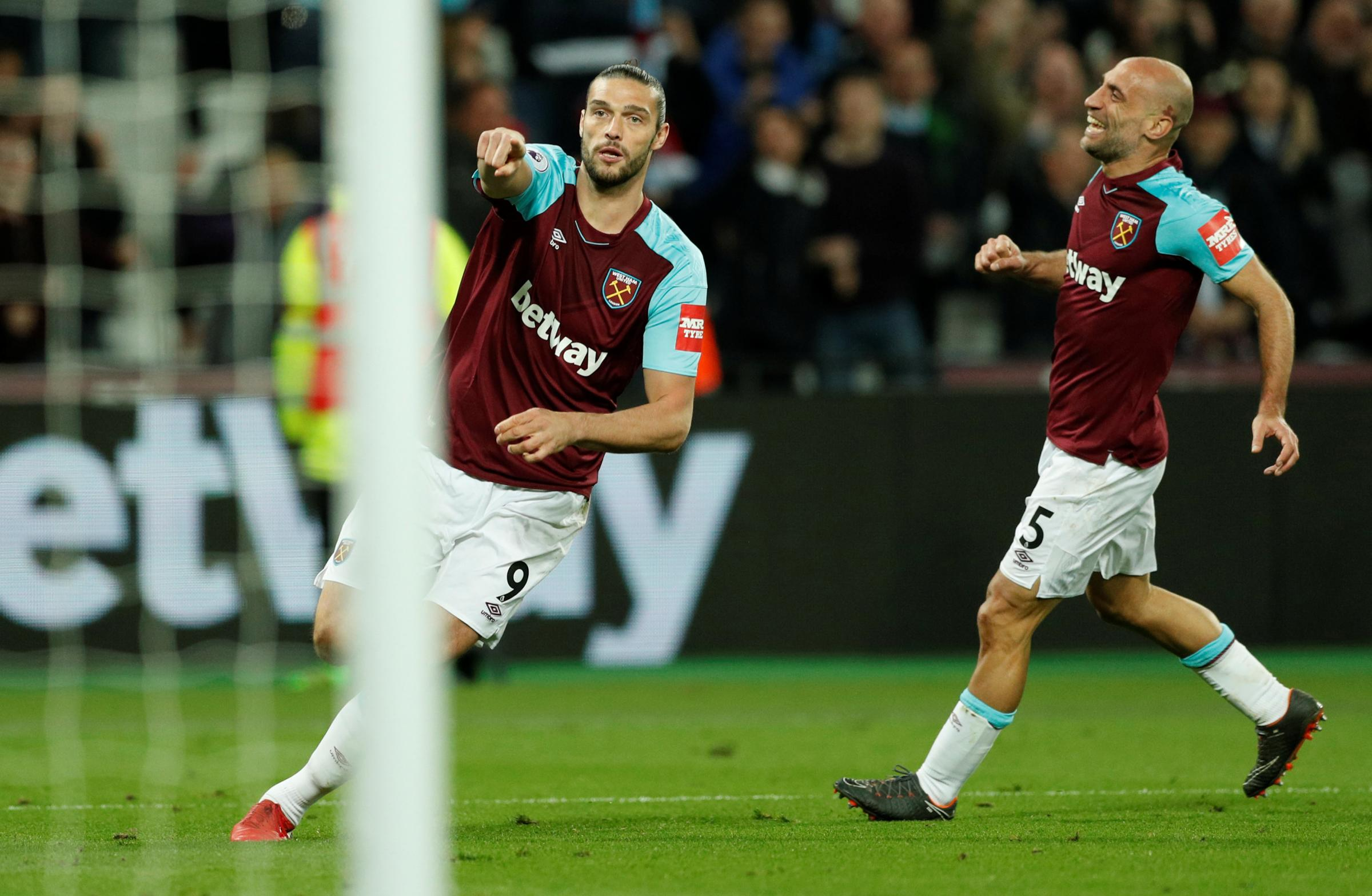 Andy Carroll earned a last-gasp draw for the Hammers. Picture: Action Images