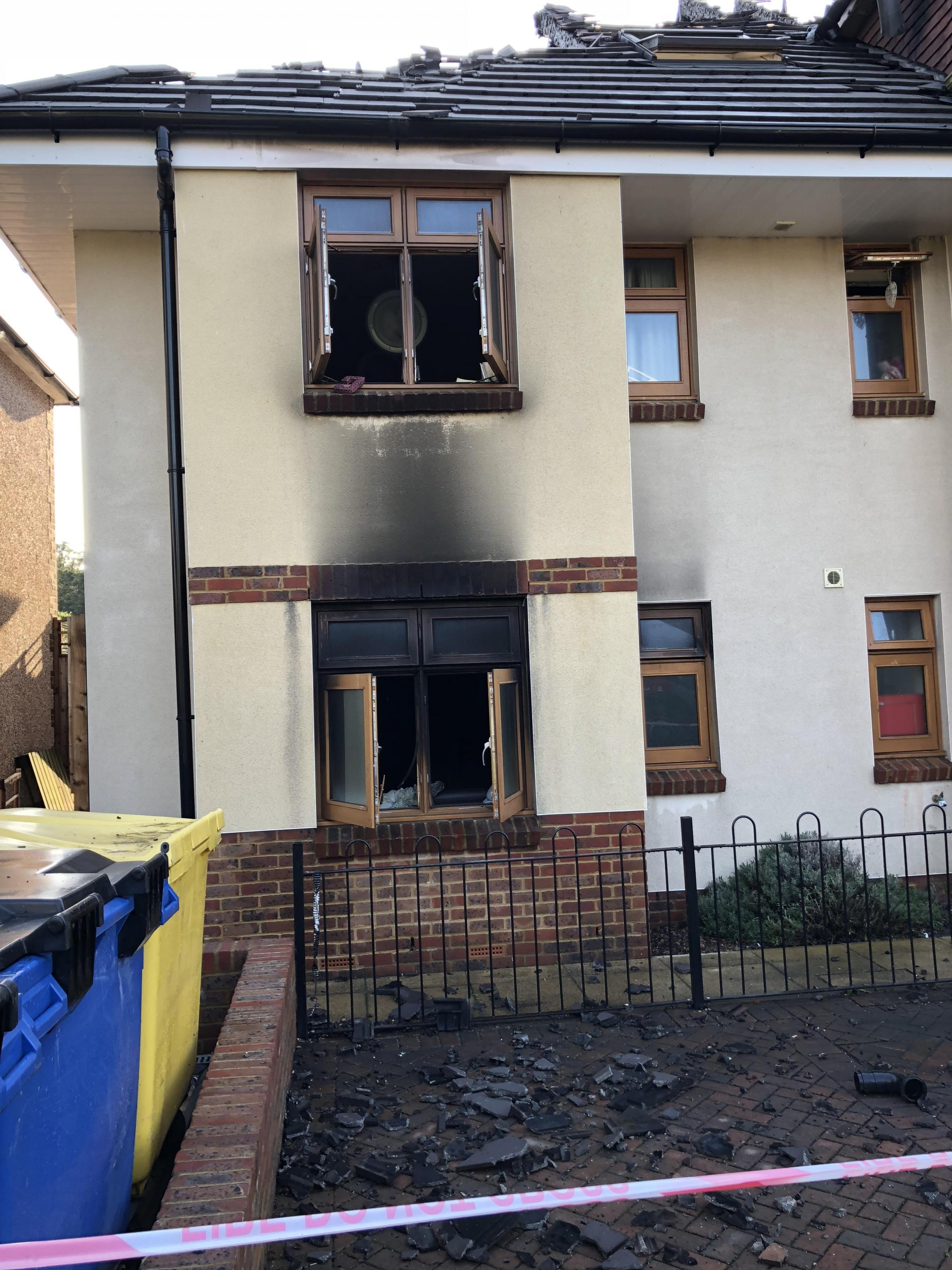 The care home was ripped through by fire
