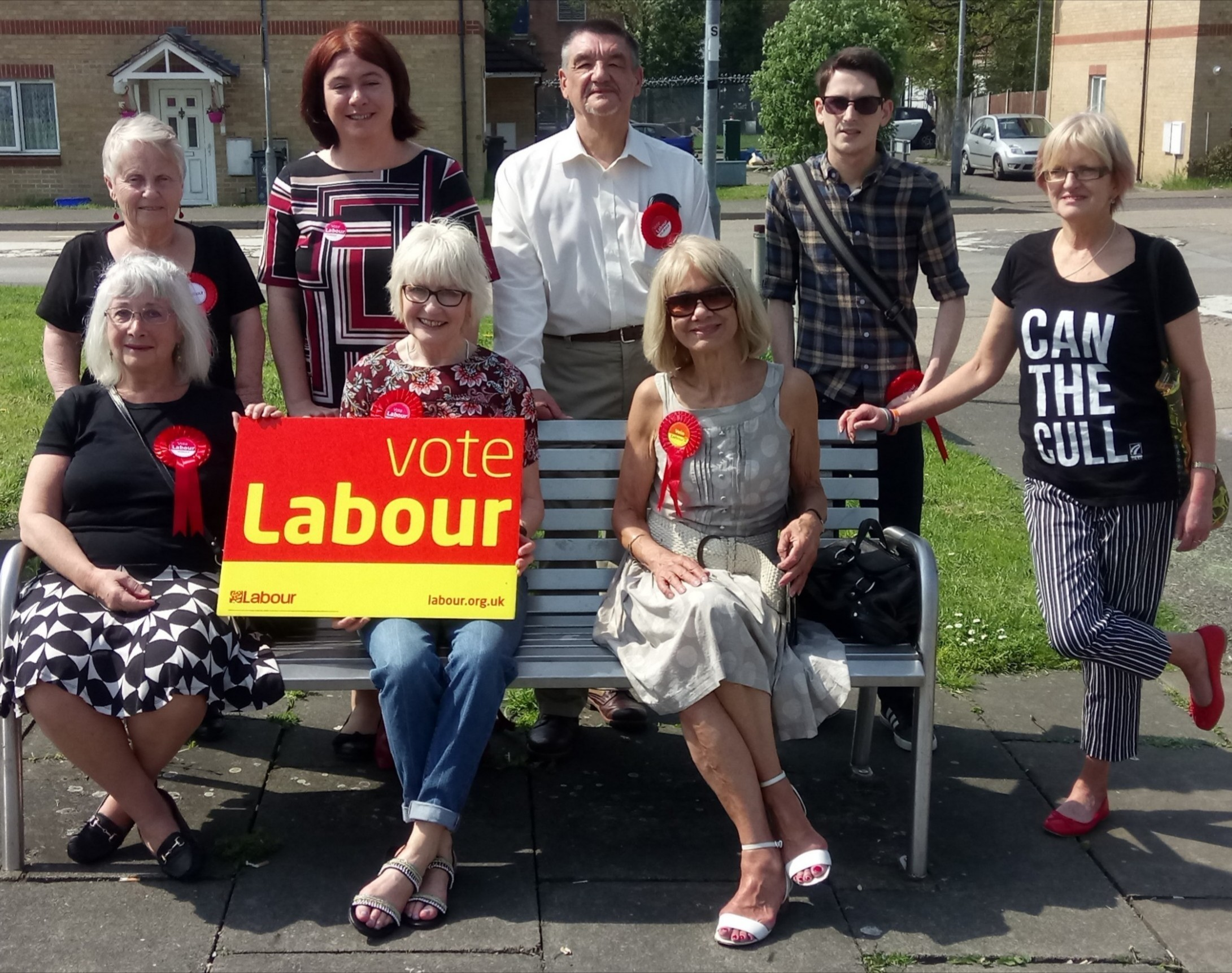 The Labour campaign team on Saturday