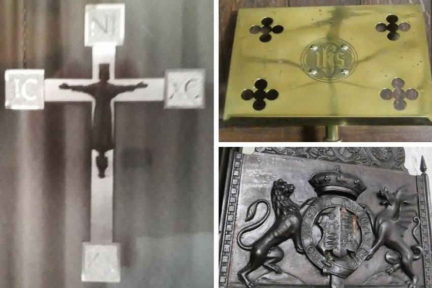 Police are looking to trace several items taken from churches during burglaries