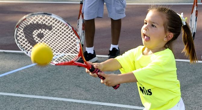 Tennis is one of the options at the multi-sport day