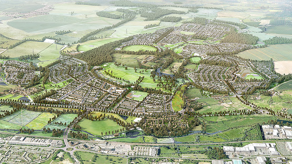 A design of  the Harlow and Gilston Garden Town