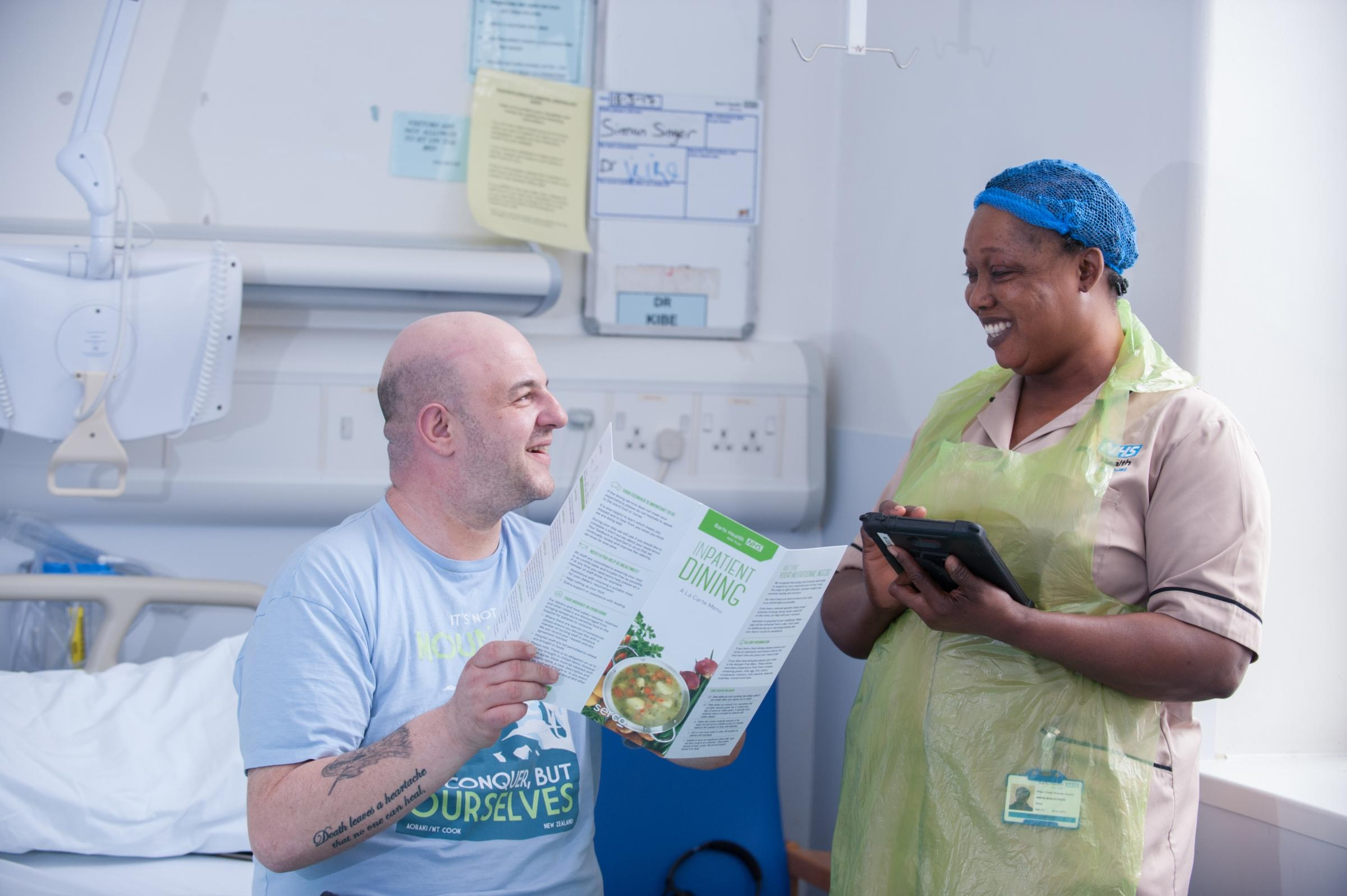 Whipps Cross Hospital in Leytonstone is taking part in a study with five-star chefs to improve patient experience.