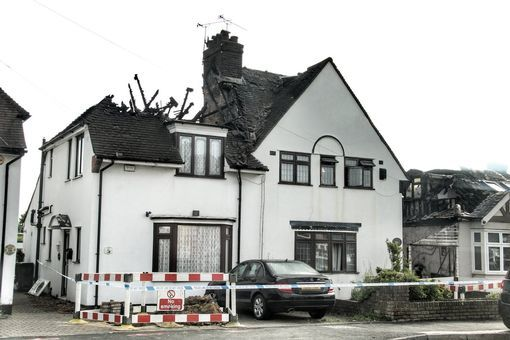 The fire raged for more than eight hours, taking hold of several properties (Image: Paul Wood)