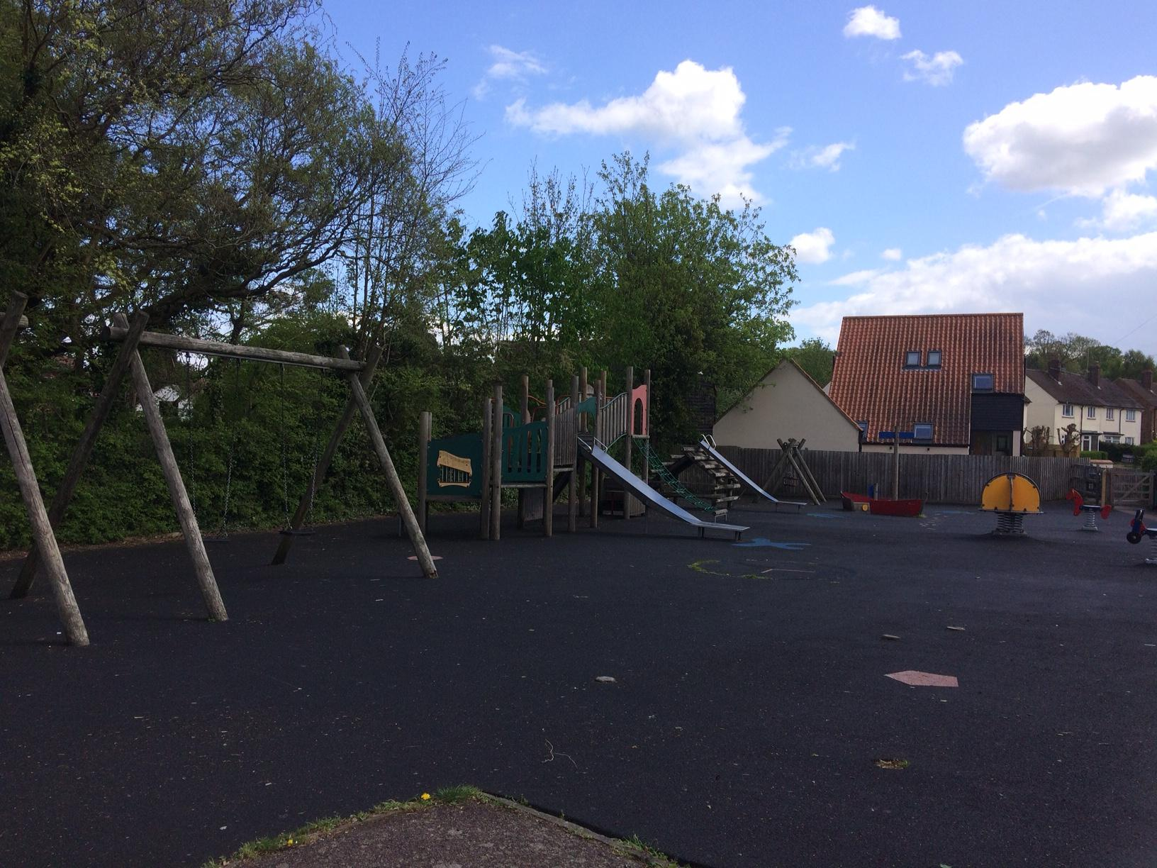 The playground as it currently is