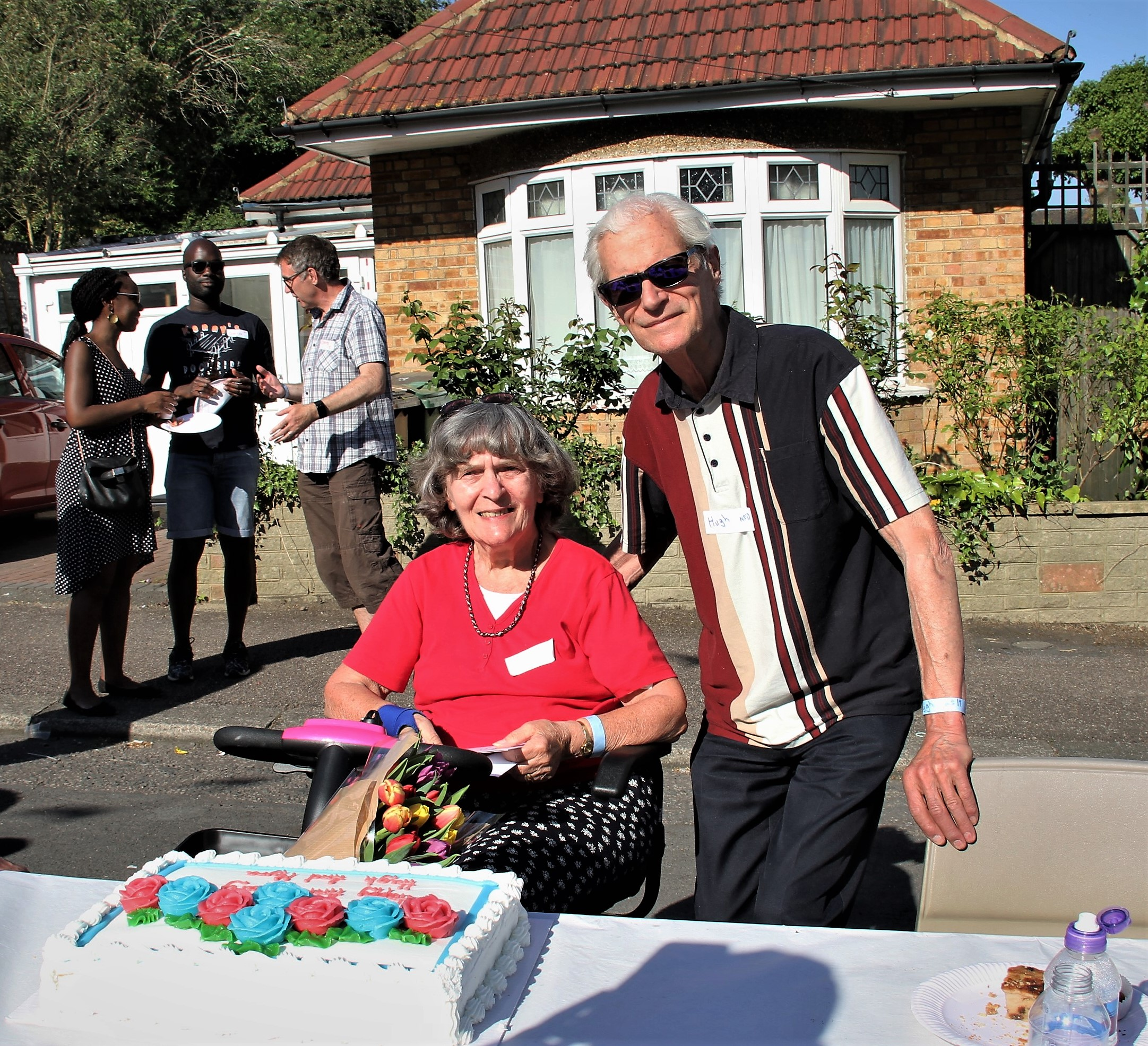 Families living in Whitehall Gardens in Chingford gathered for a street party on Saturday to celebrate the royal wedding.