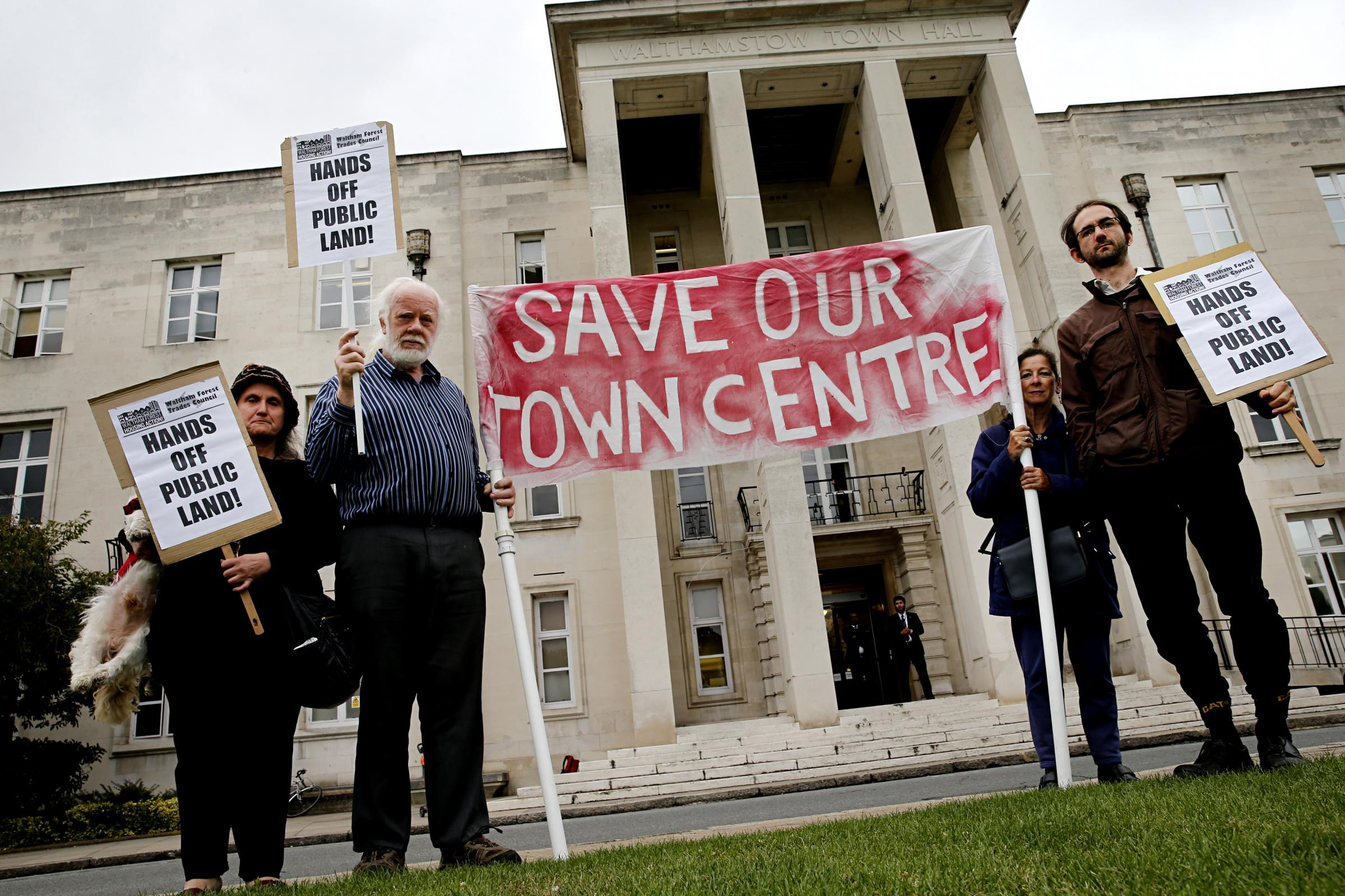 Campaigners will gather outside Waltham Forest Town Hall on Thursday to lobby councillors for a full council vote on plans for tower blocks in Walthamstow.